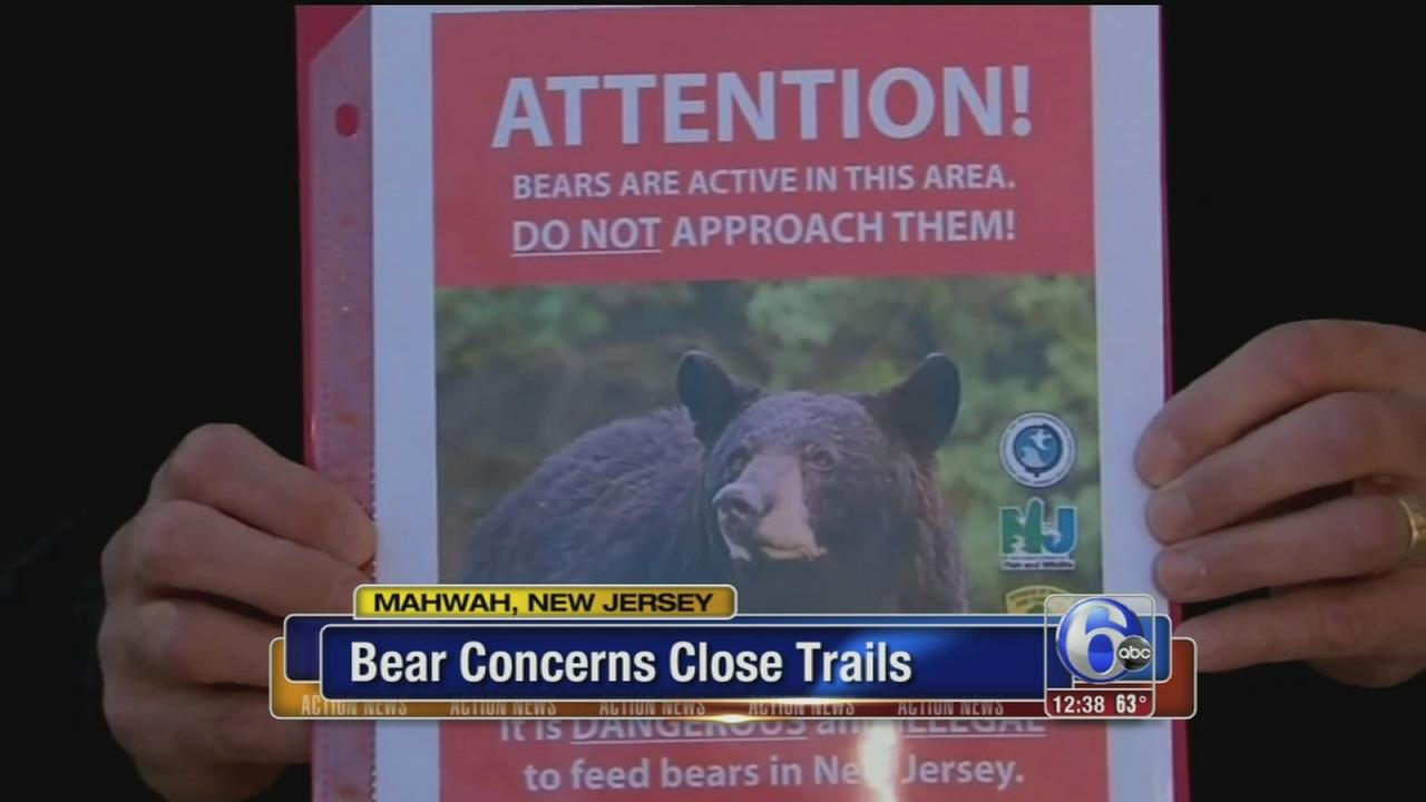 VIDEO: Bear concerns close hiking trails in North Jersey