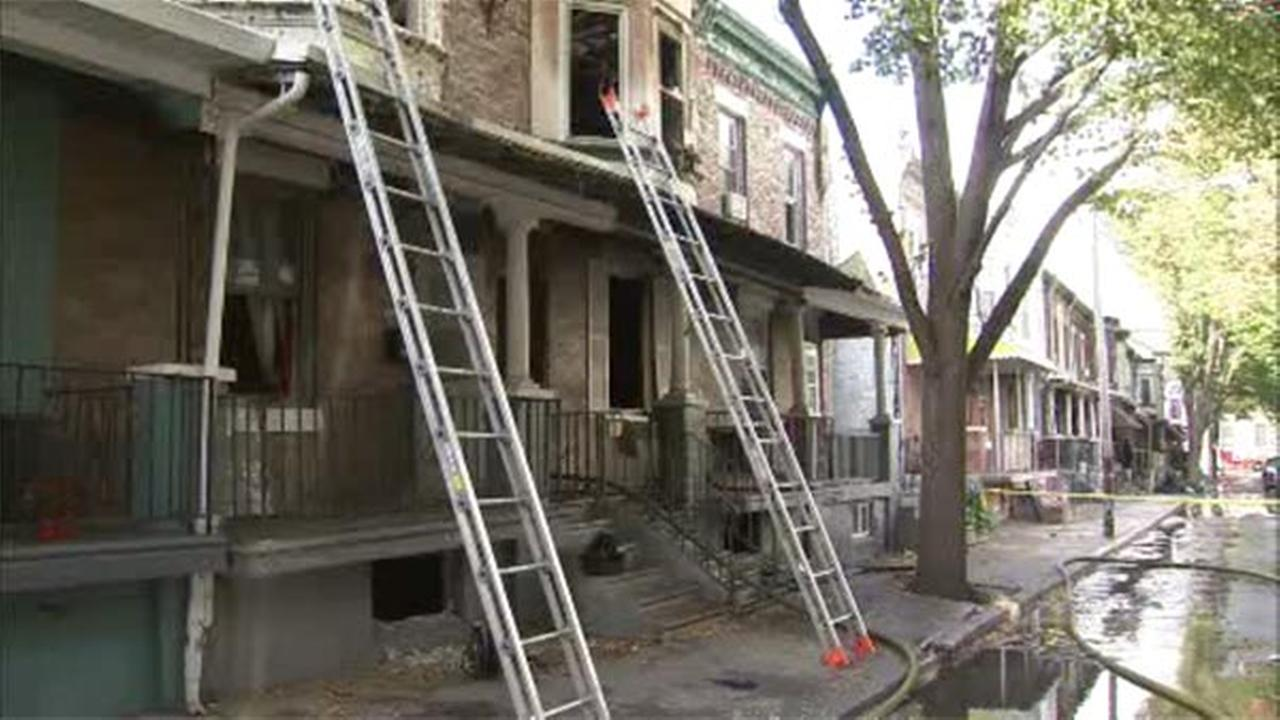 Philadelphia fire officials are investigating a blaze that damaged a house in Strawberry Mansion.