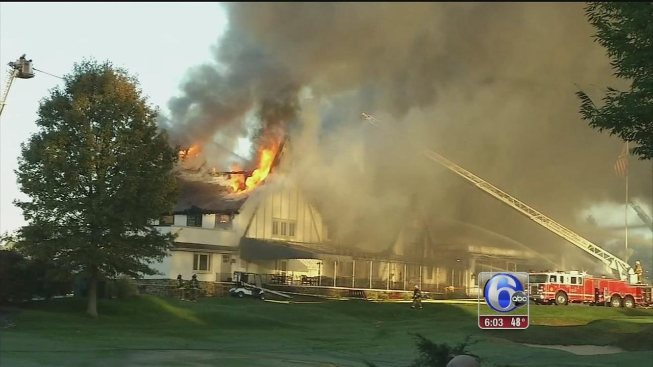 VIDEO: Country club fire in Montco