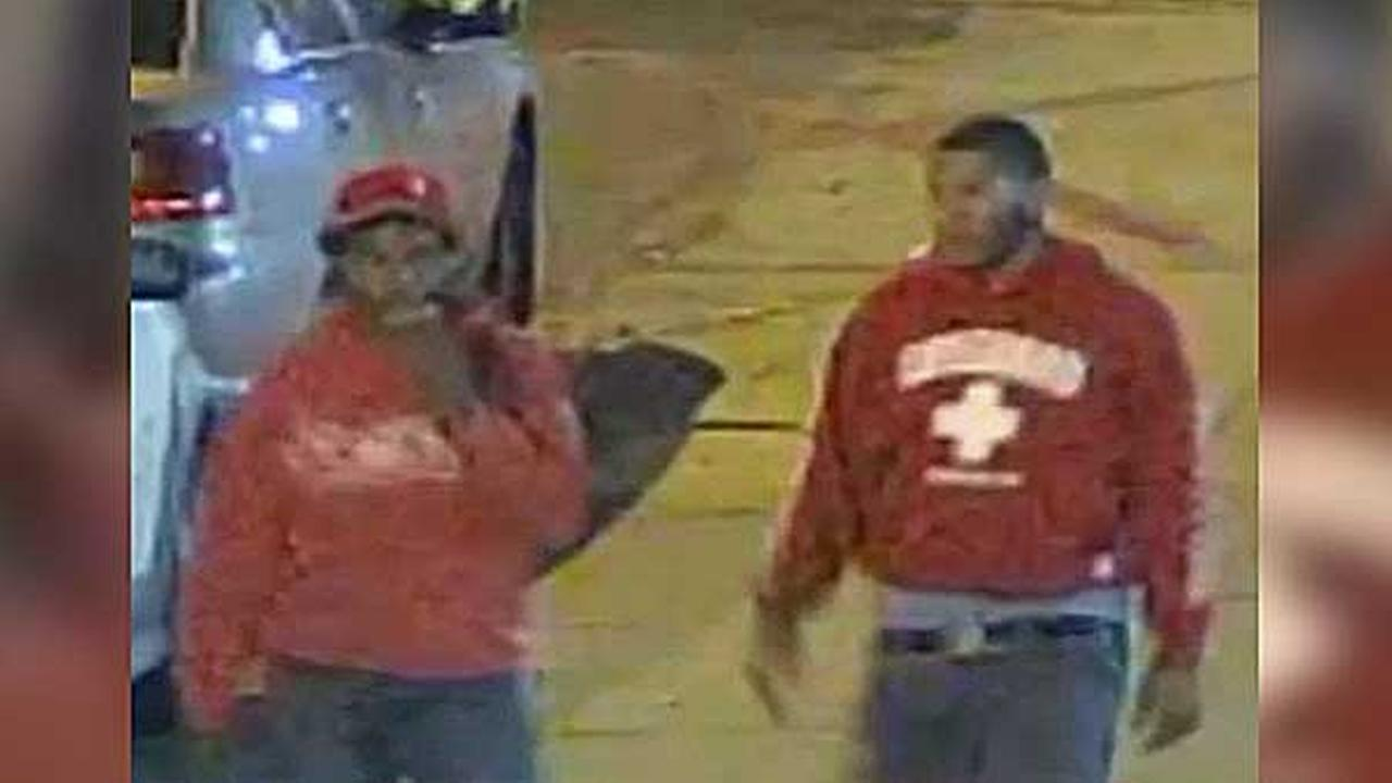 Police are searching for three suspects who robbed a man at gunpoint in North Philadelphia early Thursday morning.