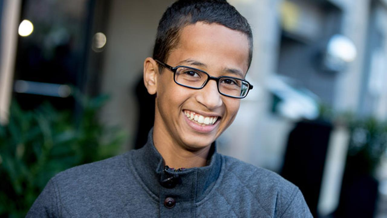 Ahmed Mohamed, the 14-year-old who was arrested at MacArthur High School in Irving, Texas for allegedly bringing a hoax bomb to school, speaks during an interview with the AP.