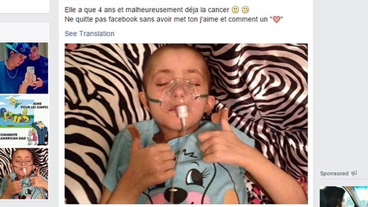 Family wants photo, misleading post about cancer victim removed from Facebook