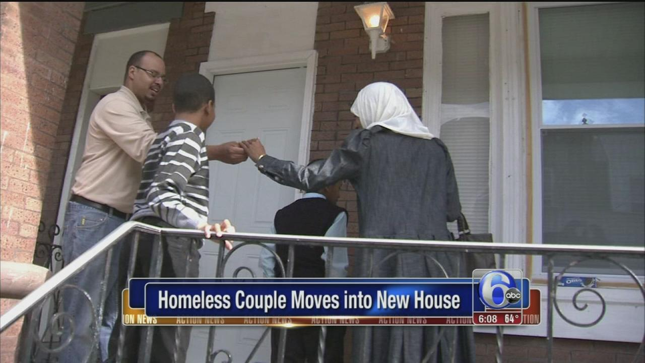 VIDEO: Love Park homeless couple moves into new house