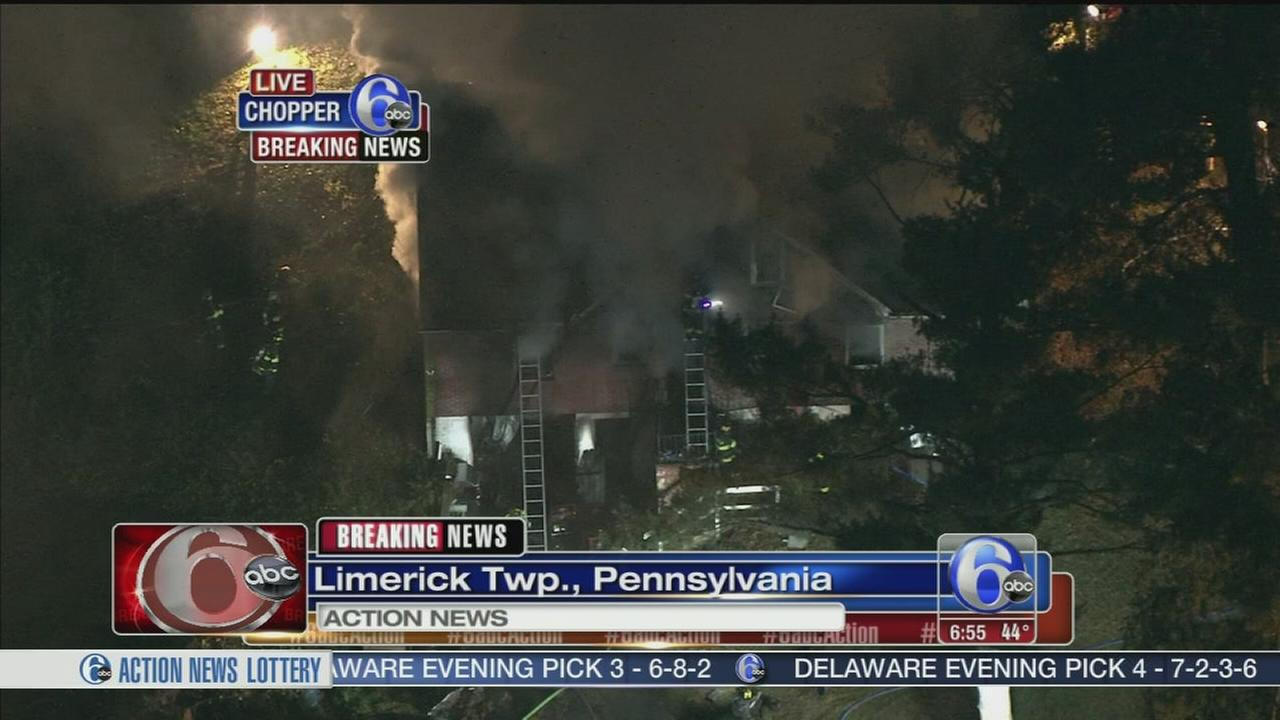 VIDEO: Fire at home in Limerick, Pa.