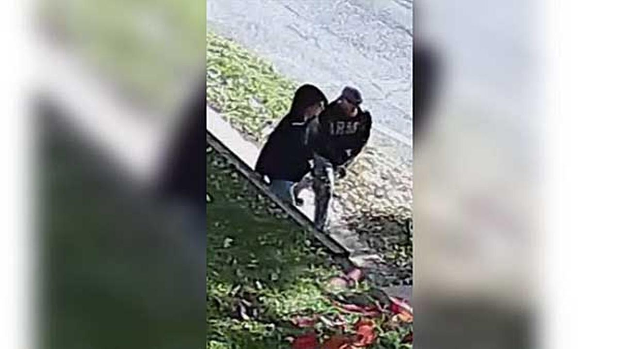 Police are searching for two suspects who threatened an elderly man with a knife during a robbery and home invasion in the citys Somerton section.