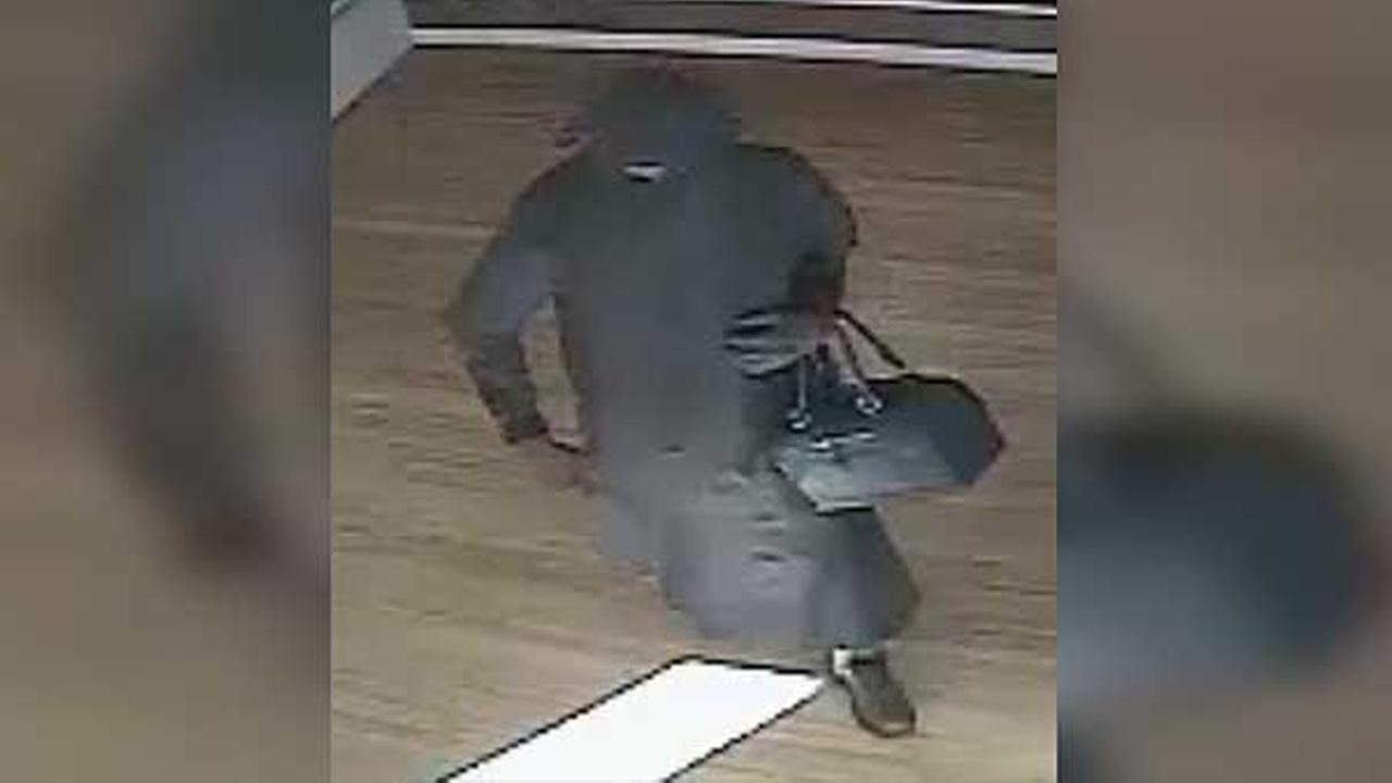 Philadelphia police are searching for a suspect who robbed a cell phone store in the citys Strawberry Mansion section.