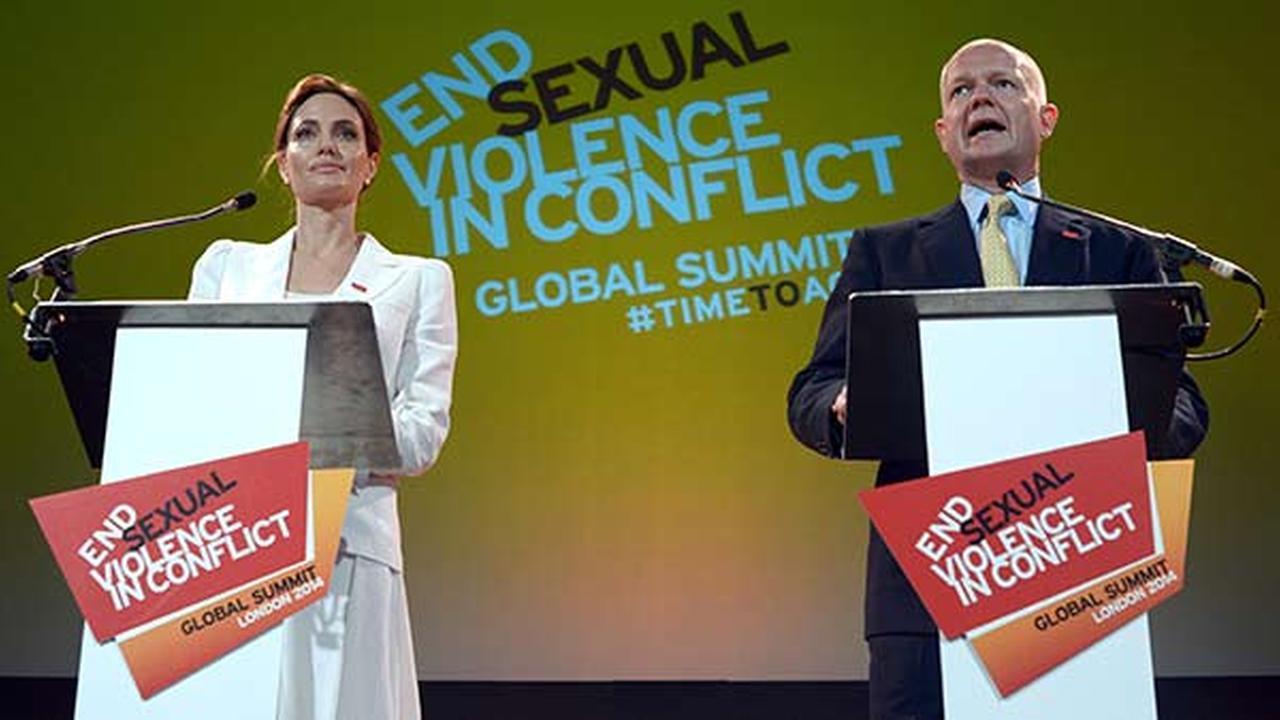 Jolie and UKs Hague host sexual violence summit