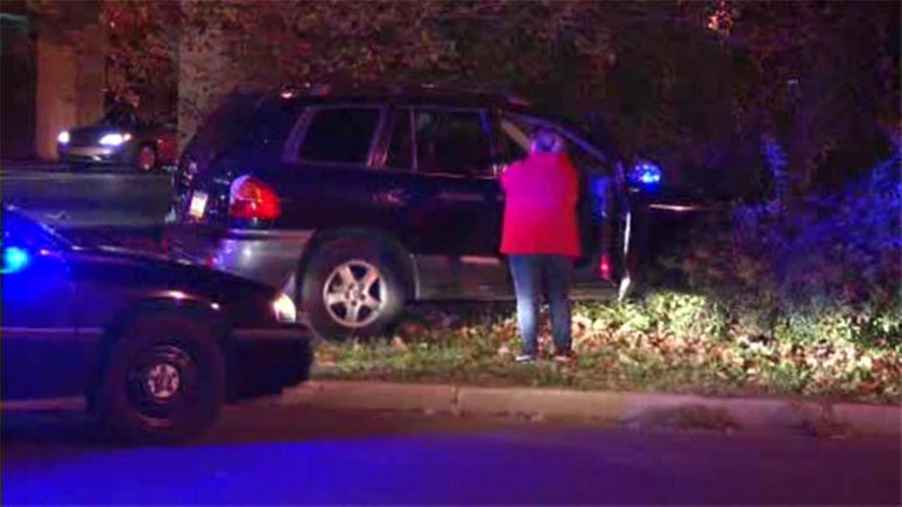 Philadelphia police are investigating a single-vehicle crash in Feltonville.