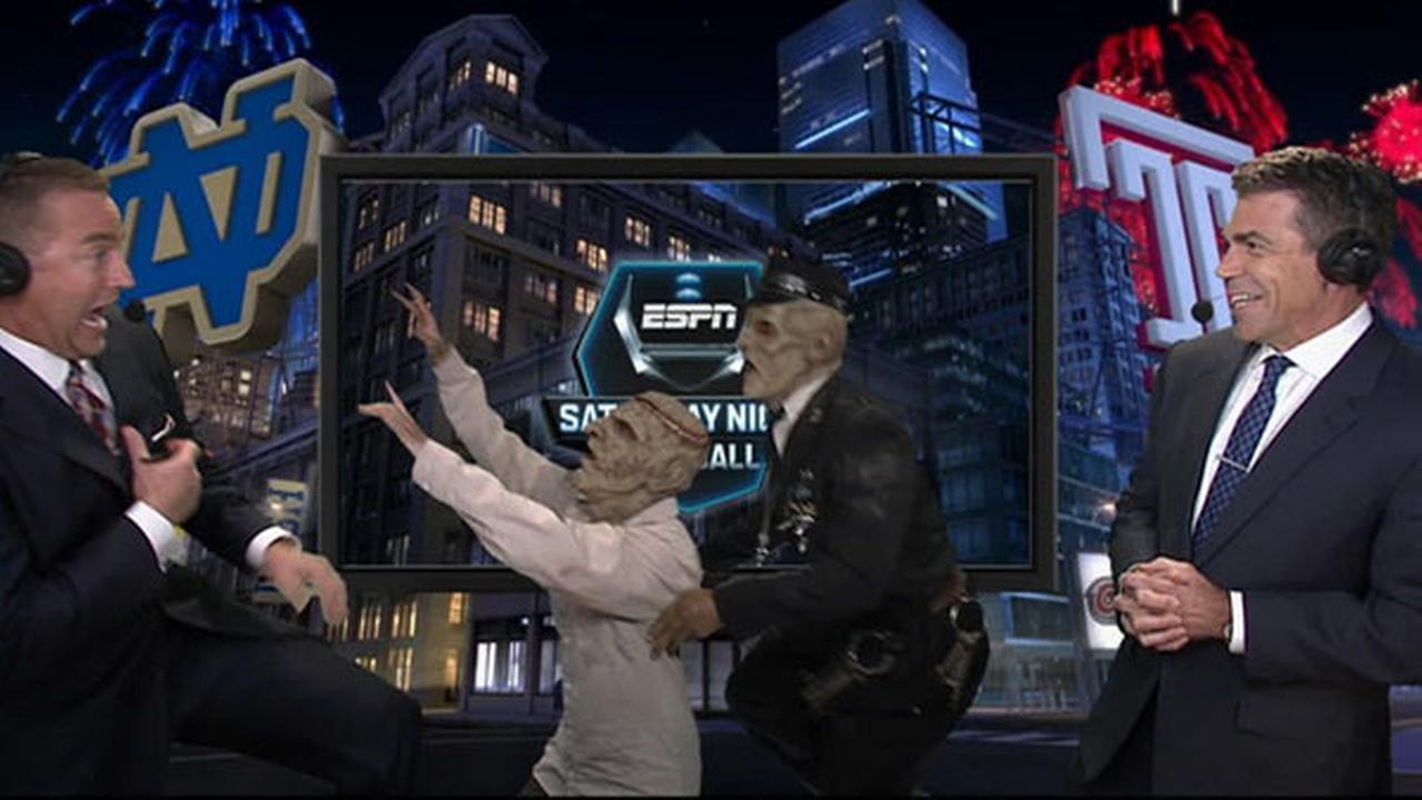 VIDEO: Eastern State Penitentiary ghouls scare ESPN's Kirk Herbstreit