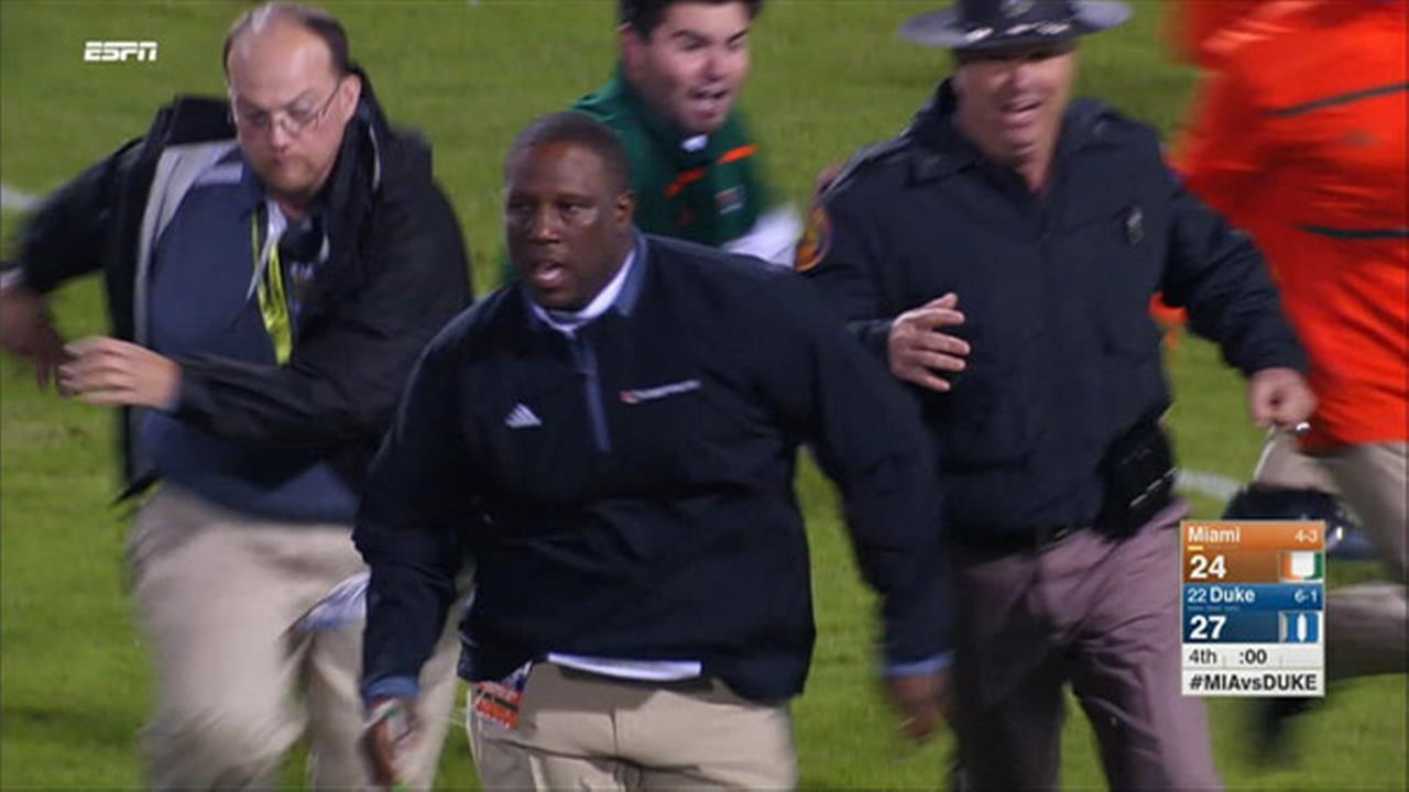ACC suspends officials for 2 games after Miami-Duke ending