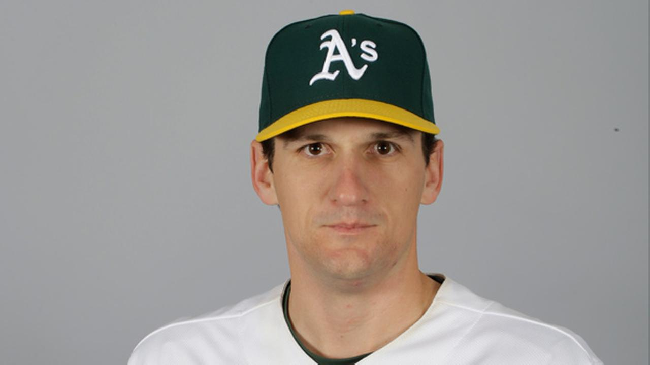 This is a 2015 photo of Dan Otero of the Oakland Athletics baseball team.