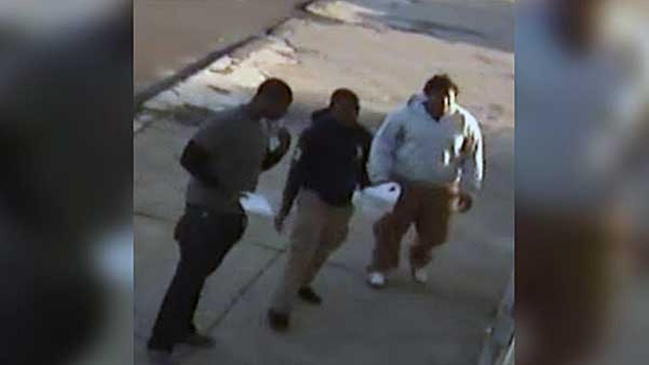 Police are on the hunt for three suspects who were caught on surveillance stealing a bicycle in South Philadelphia.