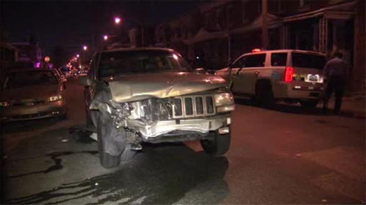 A suspect is in custody after he allegedly tried to flee the scene of an accident in West Philadelphia.