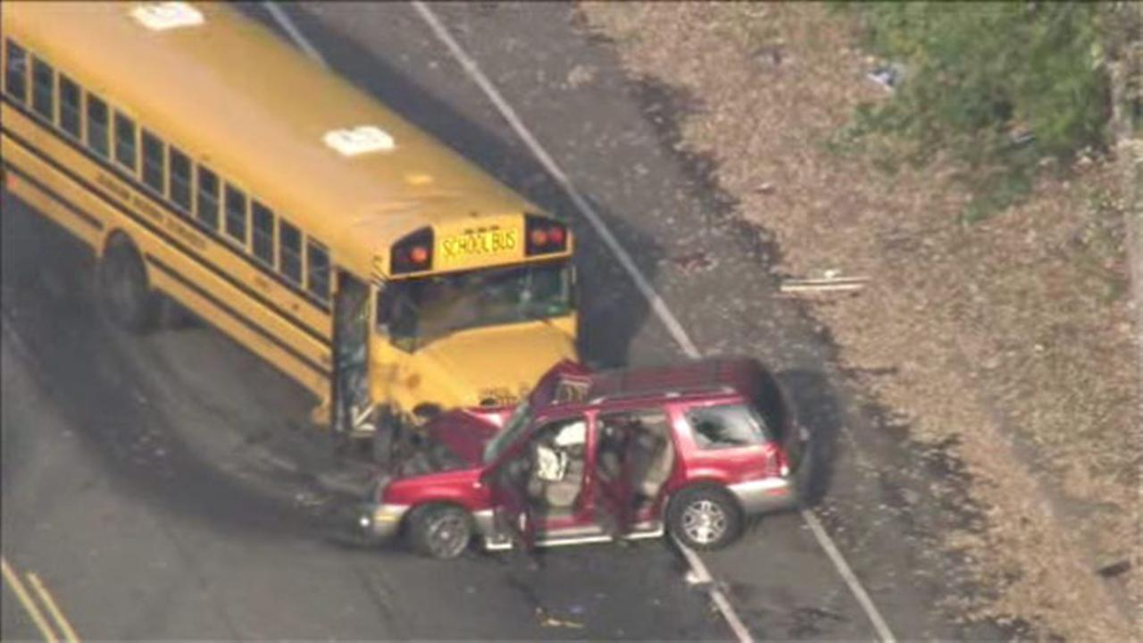 School bus and SUV crash in Logan; 1 injury reported