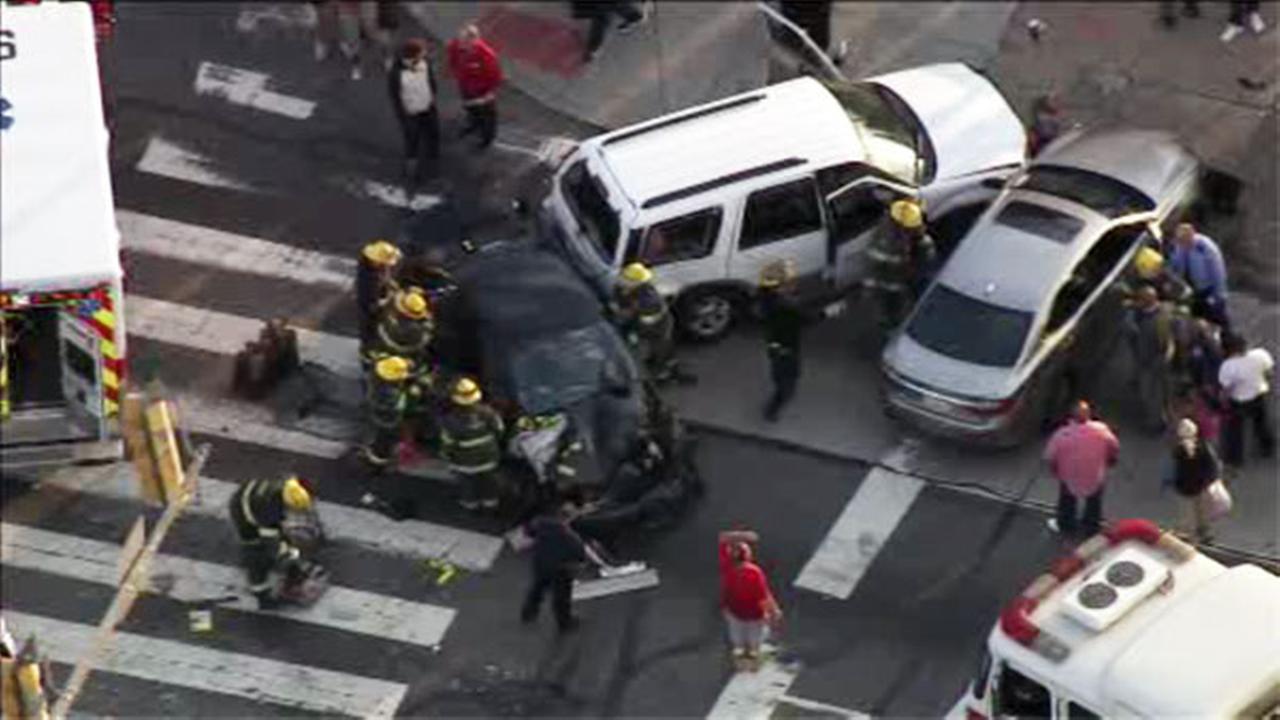 3 vehicles collide on Cottman Ave. in NE Philadelphia