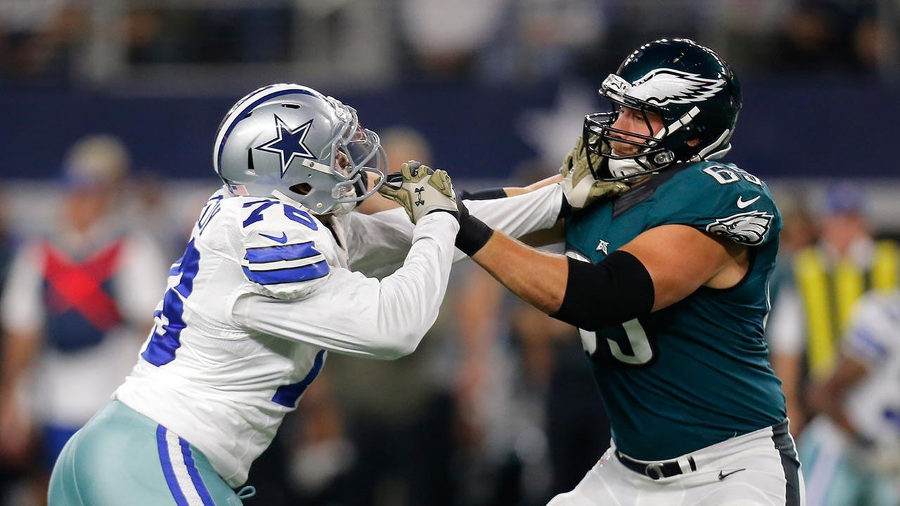 Eagles' Lane Johnson: I put 'extra mustard' on Greg Hardy blocks