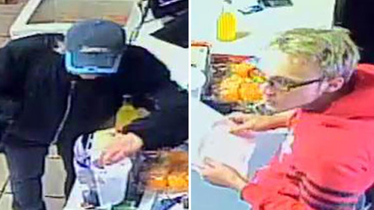 Pair sought for charity jar theft in Lansdale, Pa.