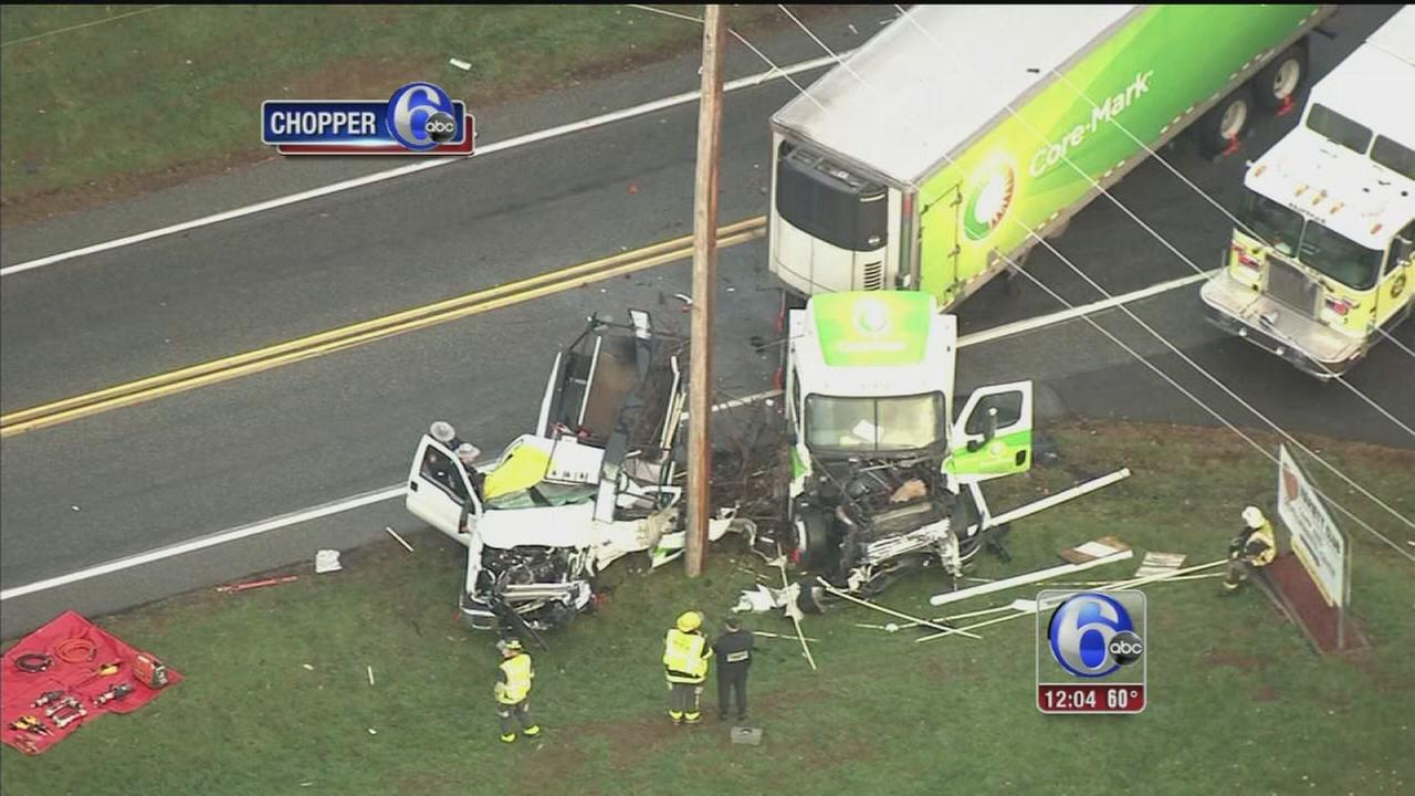VIDEO: 1 dead, 1 injured after tractor-trailer crash in Worcester Twp.