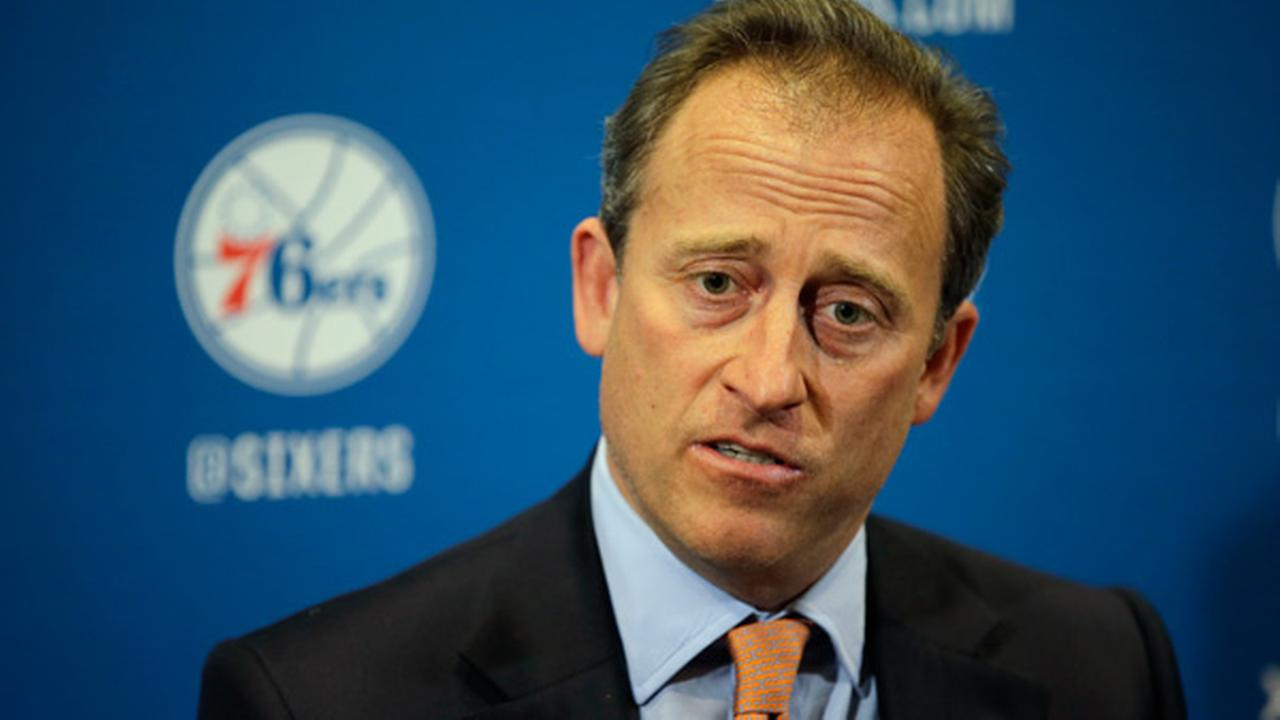 FILE:Philadelphia 76ers co-managing owner Josh Harris speaks at a news conference before an NBA basketball game against the Miami Heat, Wednesday, April 15, 2015, in Philadelphia.