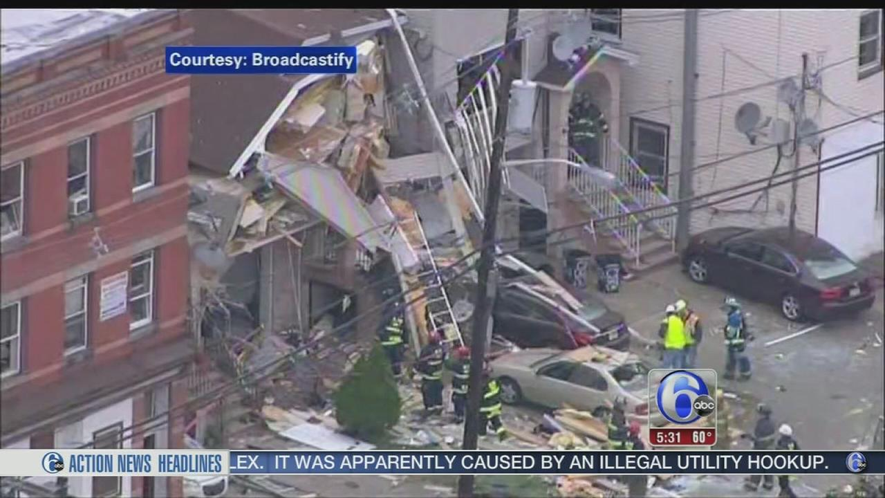 VIDEO: Blast levels New Jersey home like a pancake, killing 1