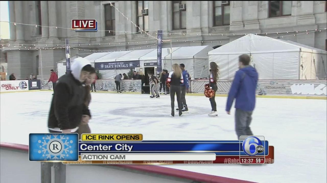 VIDEO: Rothman Ice Rink opens