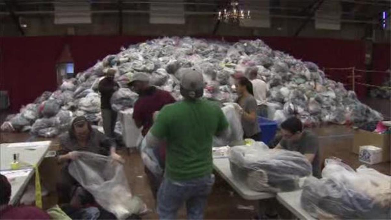 The Rescue Mission of Trenton announced Sunday it broke the Guinness Book of World Records for the largest collection of clothes for recycle/donation.