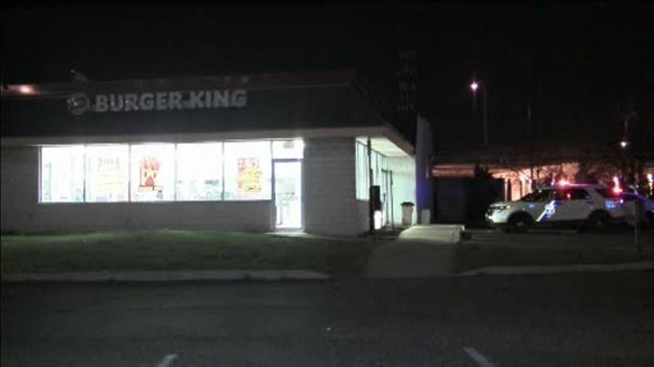 Three men armed with baseball bats rob Burger King