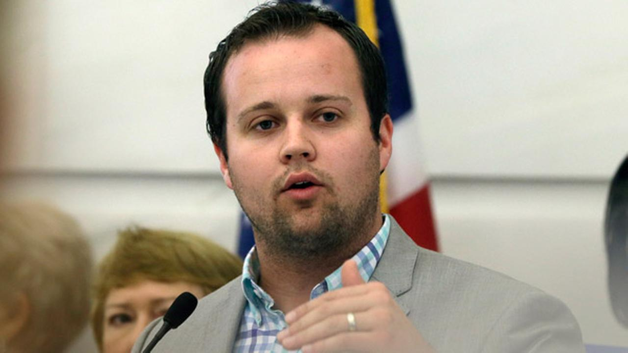 FILE - In this Aug. 29, 2014, file photo, Josh Duggar, executive director of FRC Action, speaks in favor the Pain-Capable Unborn Child Protection Act at the Arkansas state Capitol.