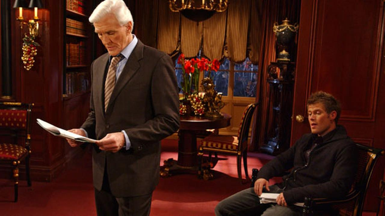 FILE: David Canary, left, who played the role of both Adam and Stuart Chandler and Jacob Young in the ABC daytime drama, All My Children.