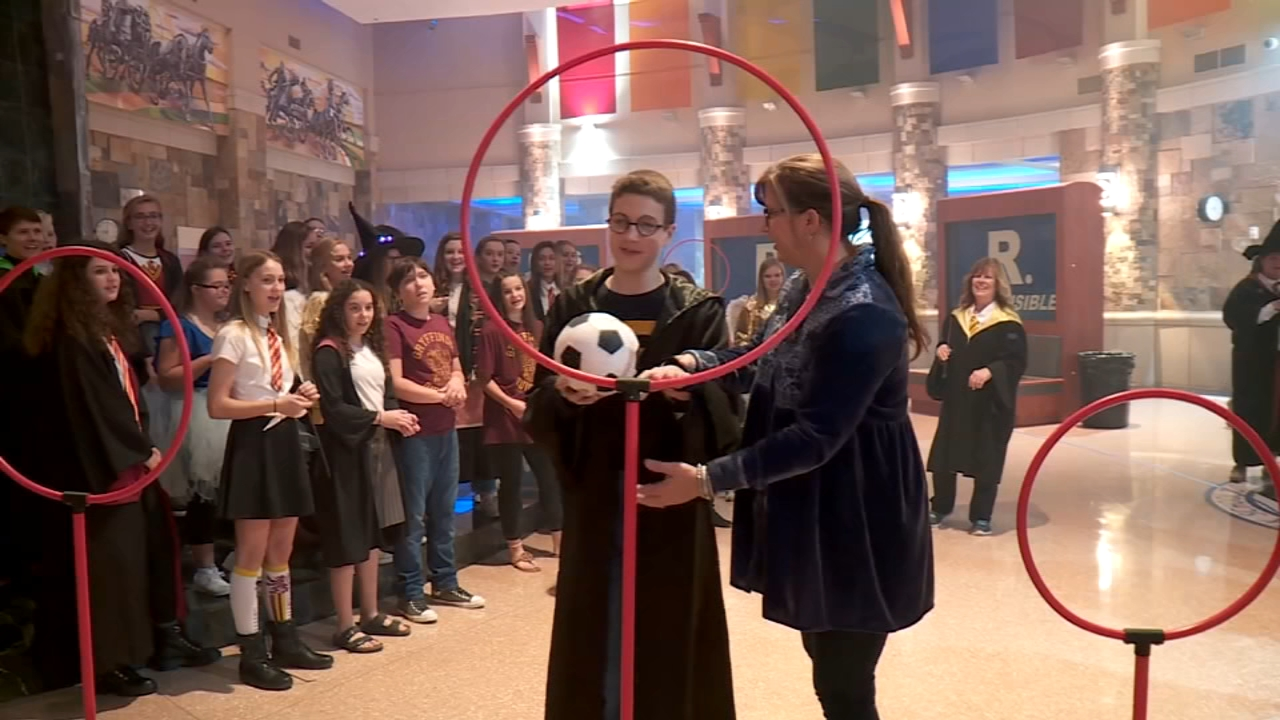 School transforms into Hogwarts to surprise boy fighting rare disease. Watch the video on 6abc.com from November 1, 2018.