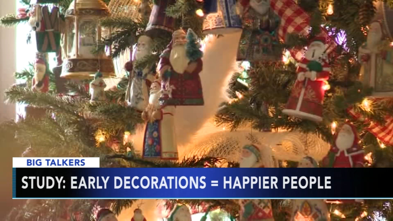 Experts say decorating for Christmas early can make you a happier person. Alicia Vitarelli reports during Action News at 4 p.m. on November 2, 2018.