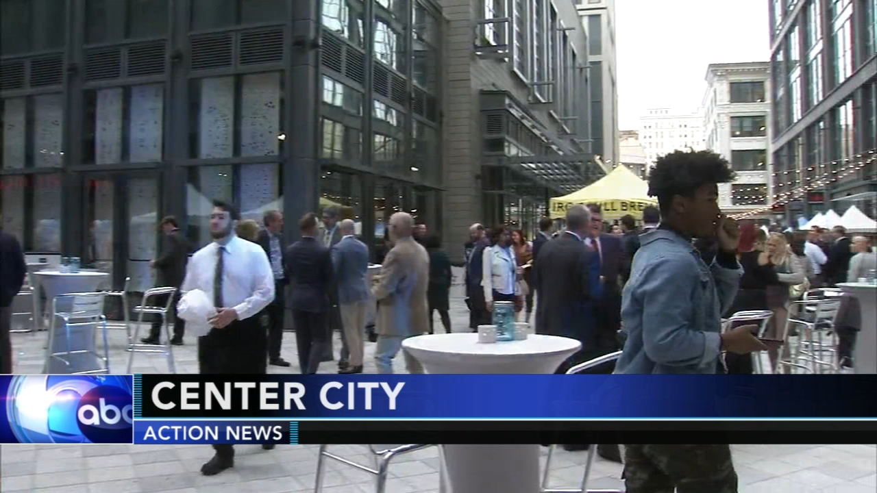 Philadelphias latest place to shop, dine, live and work officially opened today in Center City with a block party celebration.
