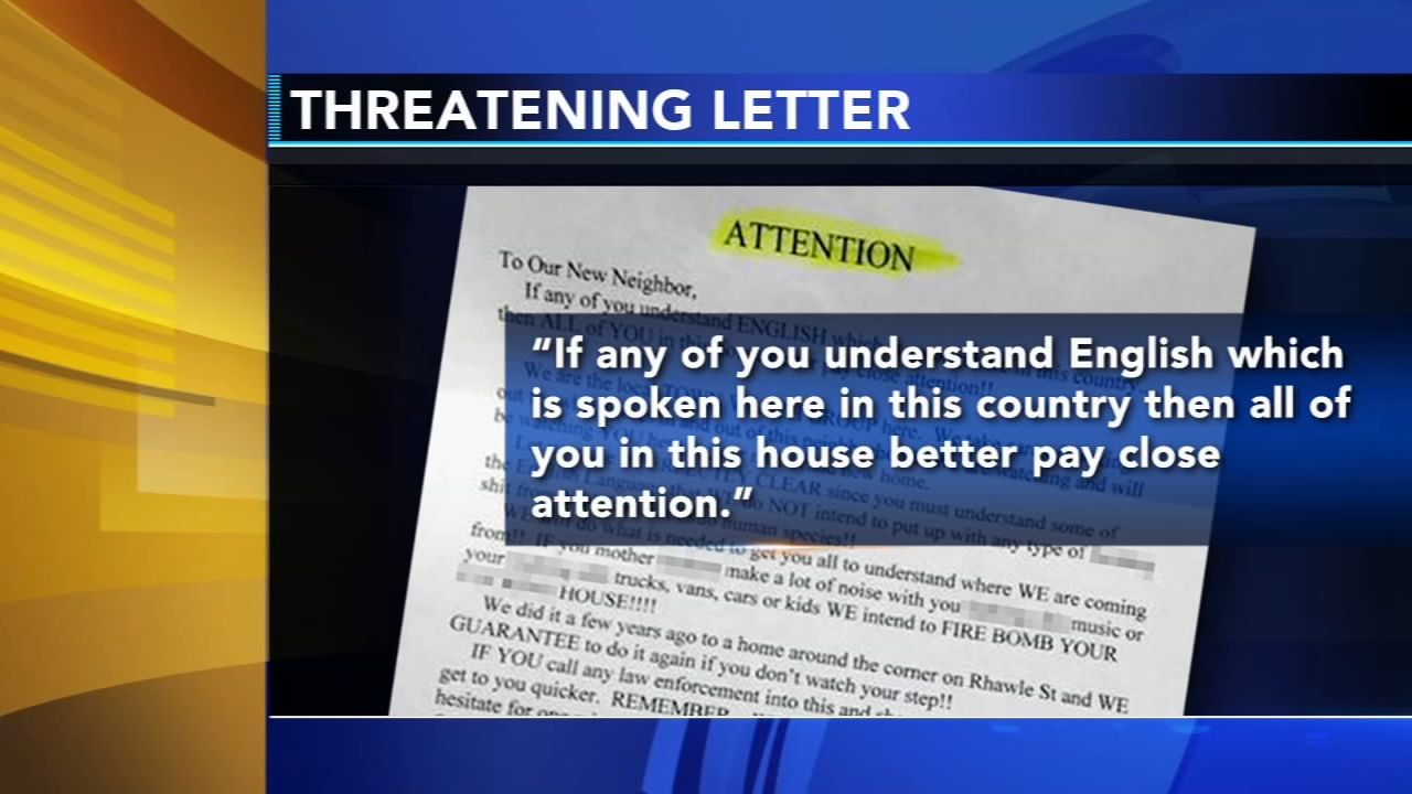 Hate-filled letter left outside womans home in Tacony. Bob Brooks reports during Action News at 4pm on November 2, 2018.