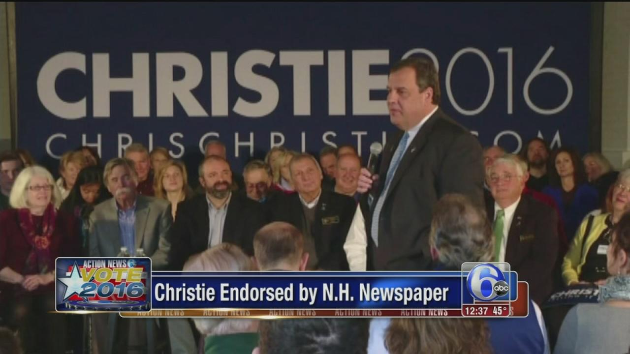 VIDEO: Christie endorsed by New Hampshire newspaper