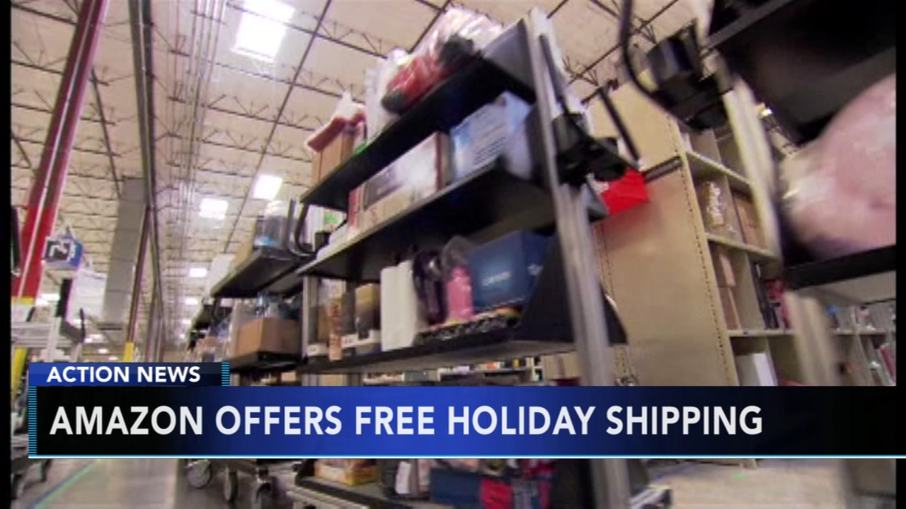 Amazon to offer free shipping for all holiday orders. Sarah Bloomquist reports during Action News at 5 p.m. on November 4, 2018.