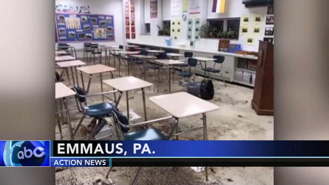 Classes canceled at Emmaus High School due to flooding. Sarah Bloomquist reports during Action News at 5 p.m. on November 4, 2018.