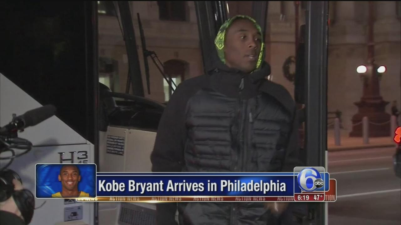 VIDEO: Kobe Bryant arrives in Philadelpia
