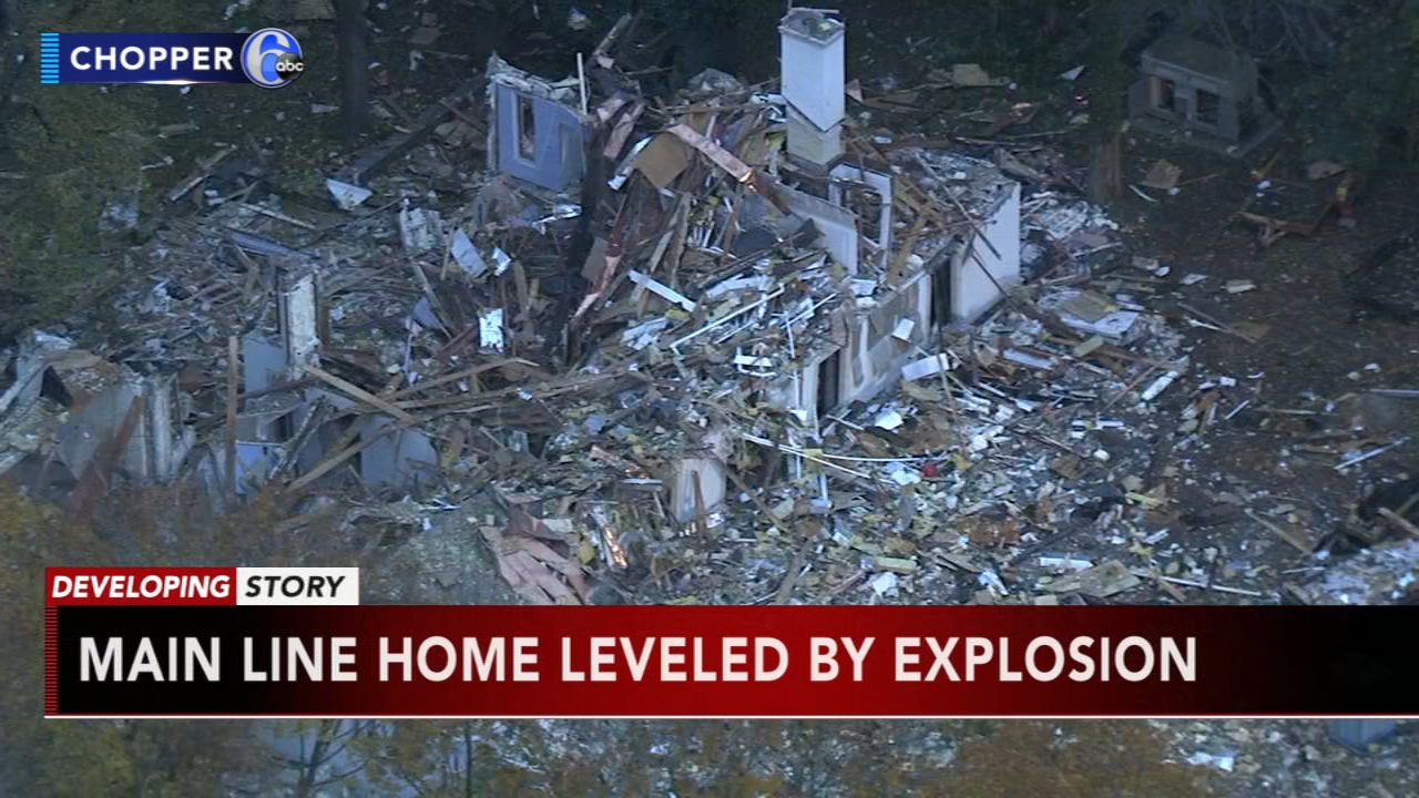 Large home in Gladwyne left in ruins after explosion. John Rawlins reports during Action News at Noon on November 5, 2018.