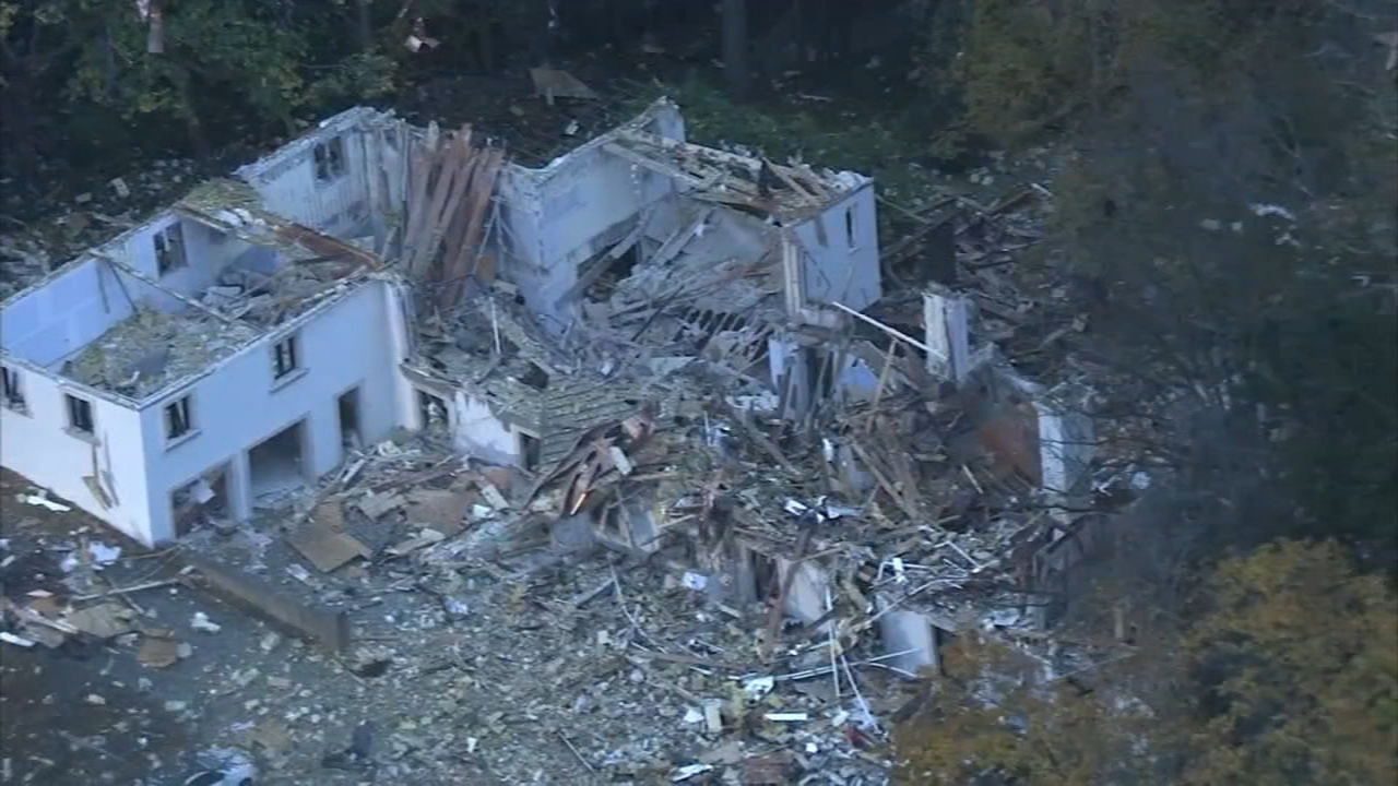 Large home in Gladwyne left in ruins after explosion. John Rawlins reports during Action News at 4pm on November 5, 2018.