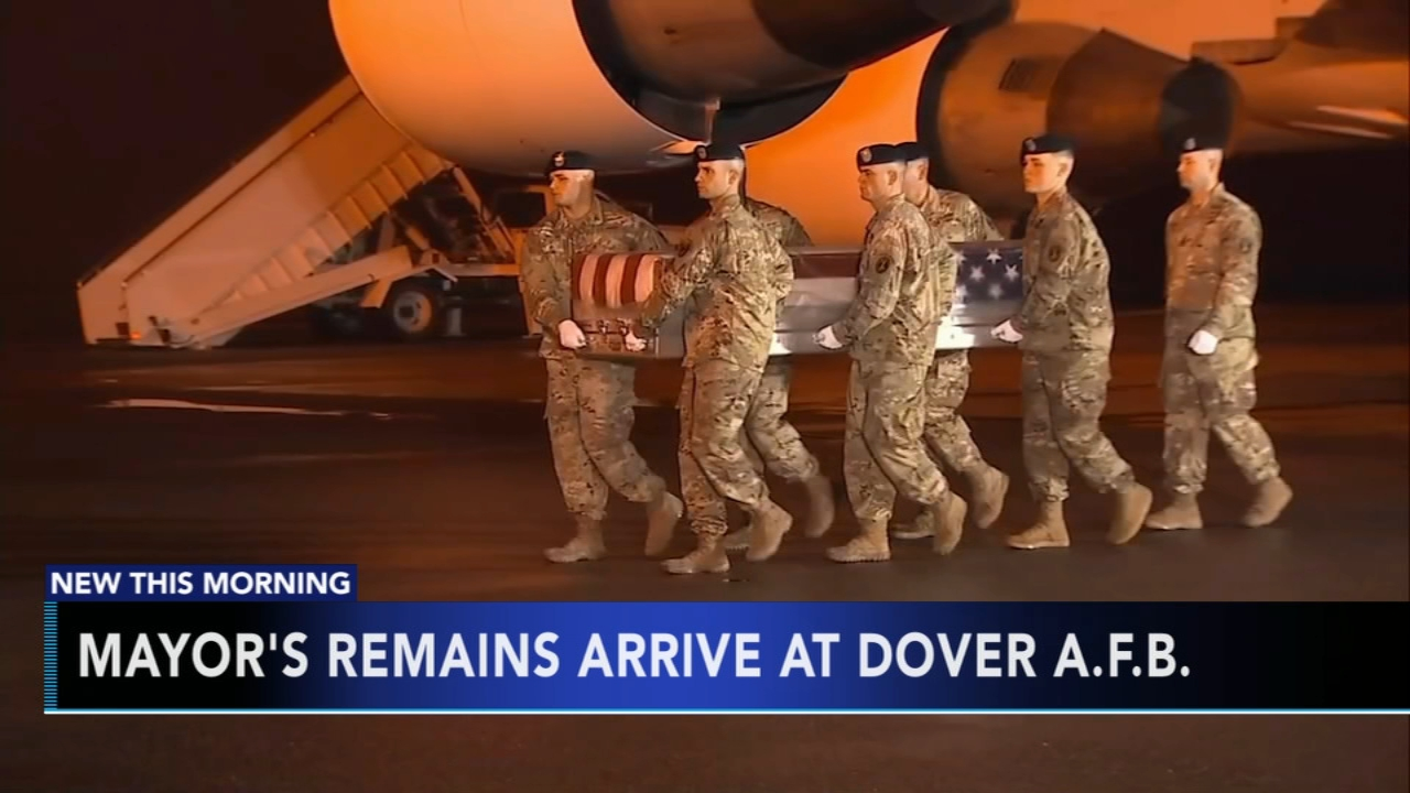 Mayors remains arrive at Dover A.F.B. Tamala Edwards reports during Action News Mornings on November 6, 2018.