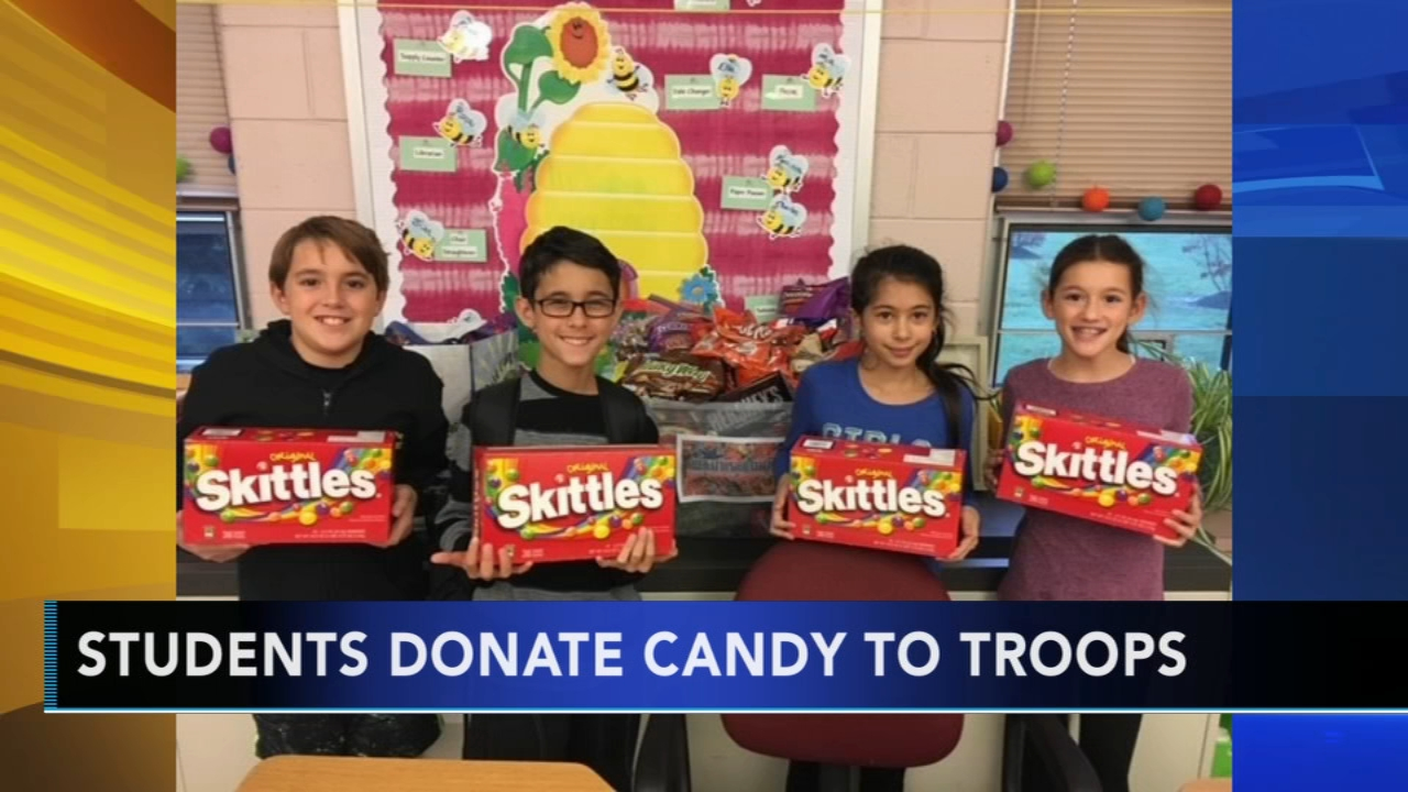 Students donate Halloween candy to troops. Karen Rogers reports during Action News Mornings on November 7, 2018.
