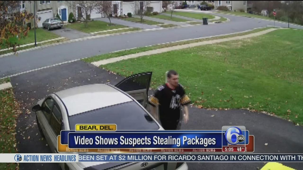 VIDEO: Packages stolen from porch 6 minutes after delivery