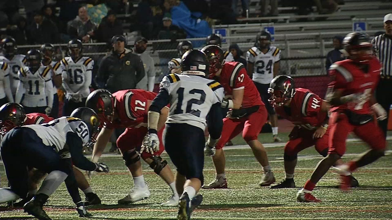 2nd round of High School Huddle playoffs. Jeff Skversky reports during Action News at 11 p.m. on November 9, 2018.