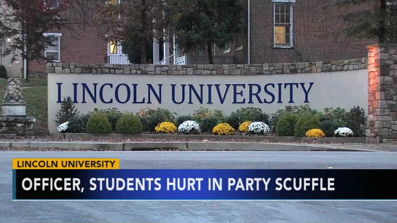 Officer, students hurt in scuffle at Lincoln University party. Gray Hall reports during Action News at 9 a.m. on November 10, 2018.