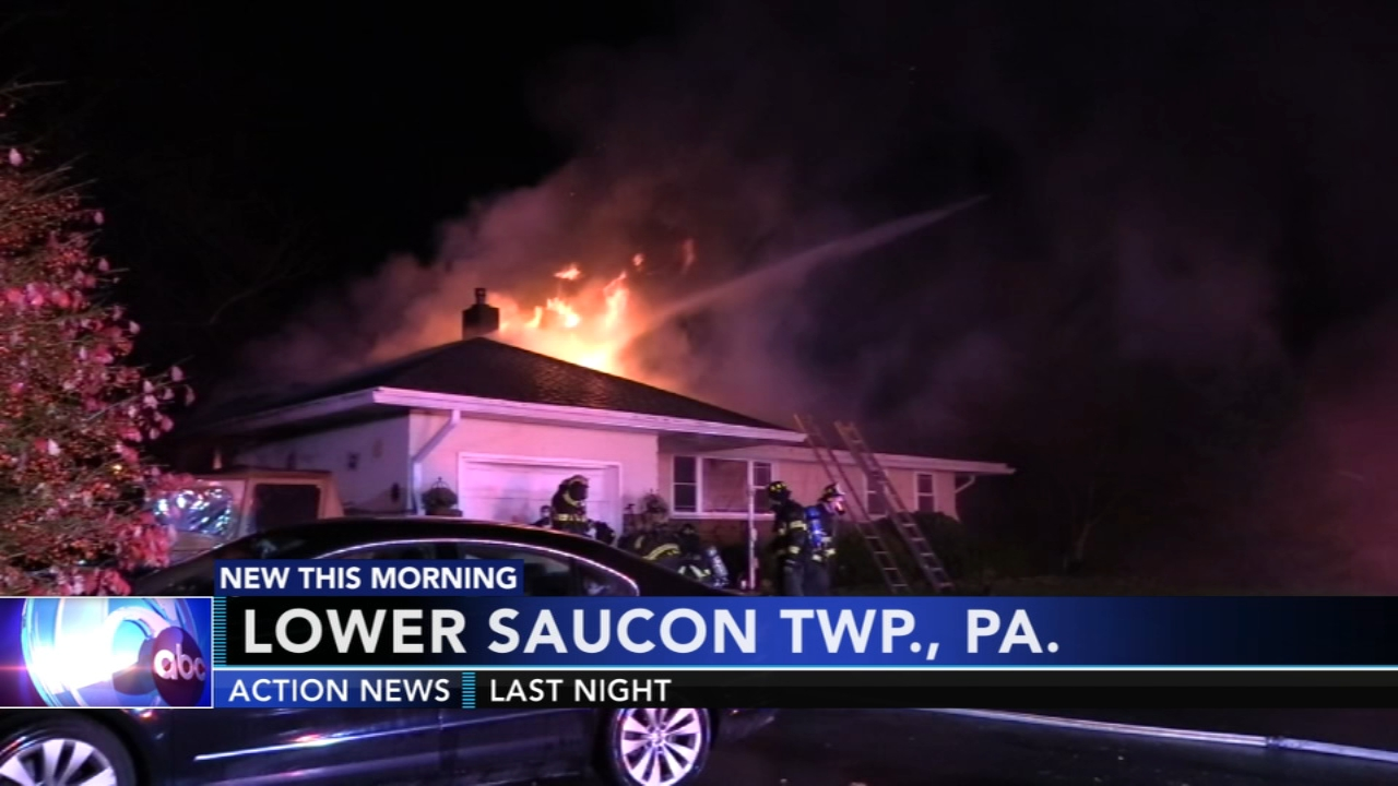 Fast-moving fire displaces family in Northampton County. Gray Hall reports during Action News at 6 a.m. on November 10, 2018.