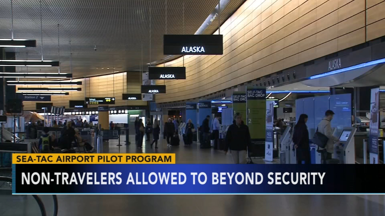 Sea-Tac airport to allow non-travelers beyond security. Gray Hall reports during Action News at 6 a.m. on November 10, 2018.