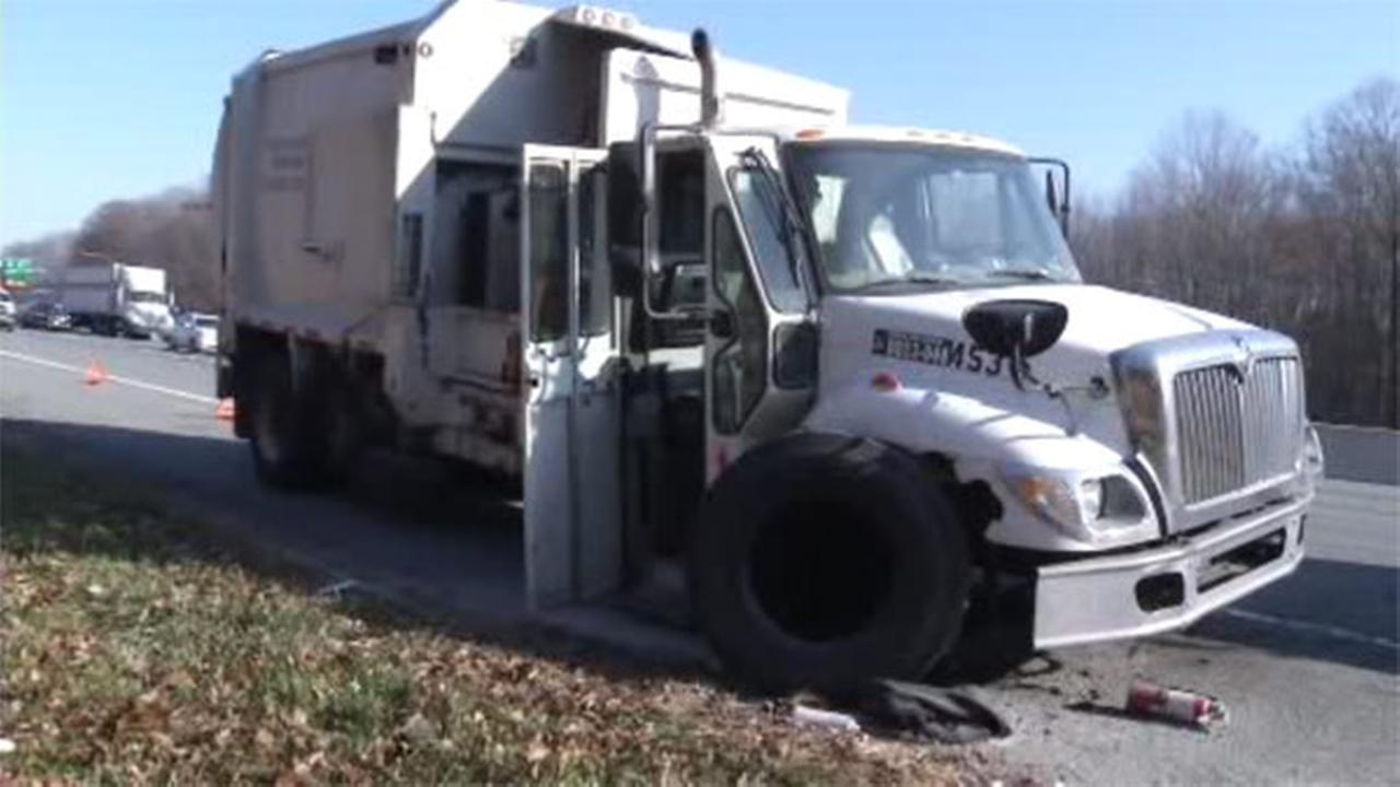 Delaware officials are investigating a truck fire that sent one person to the hospital.