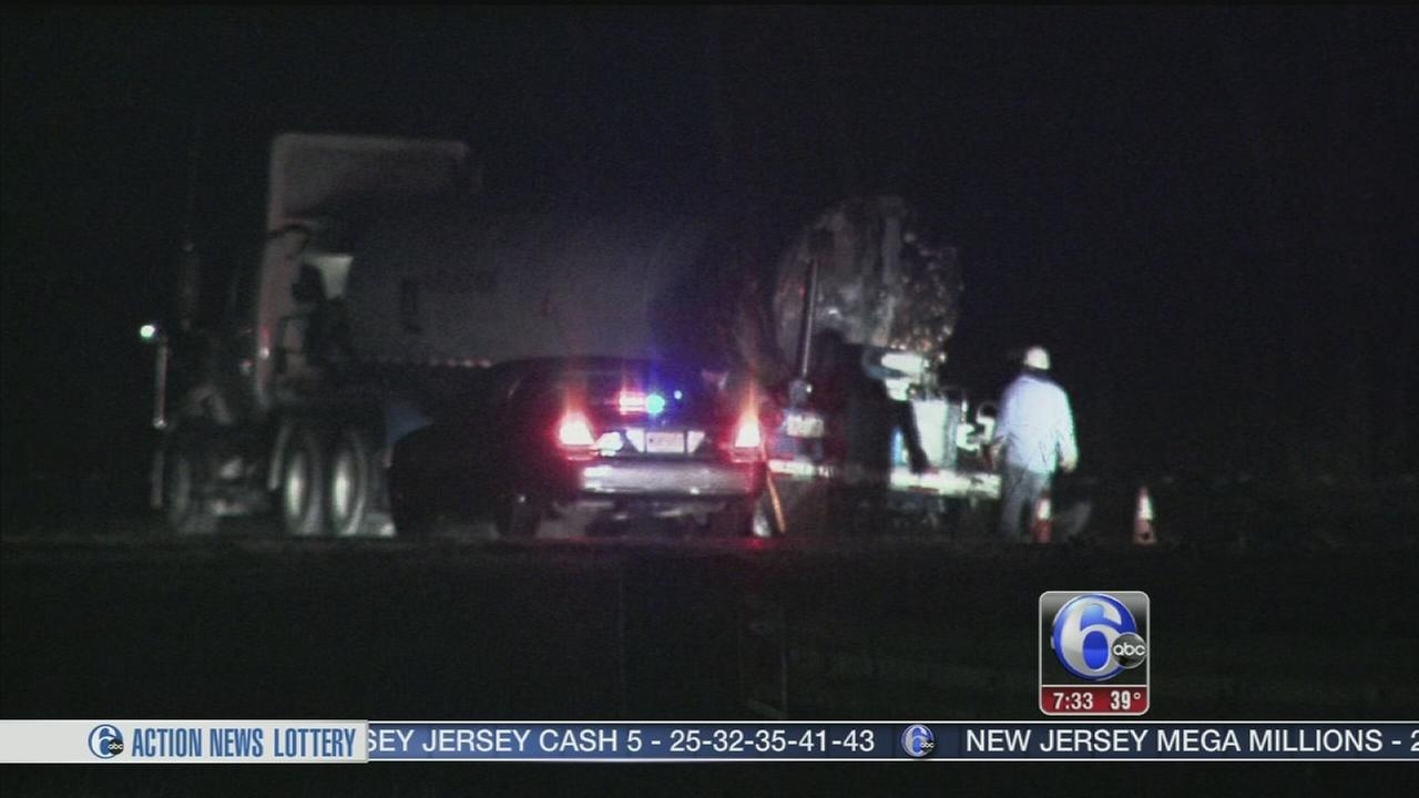 VIDEO: Tanker truck bursts into flames in Gloucester County