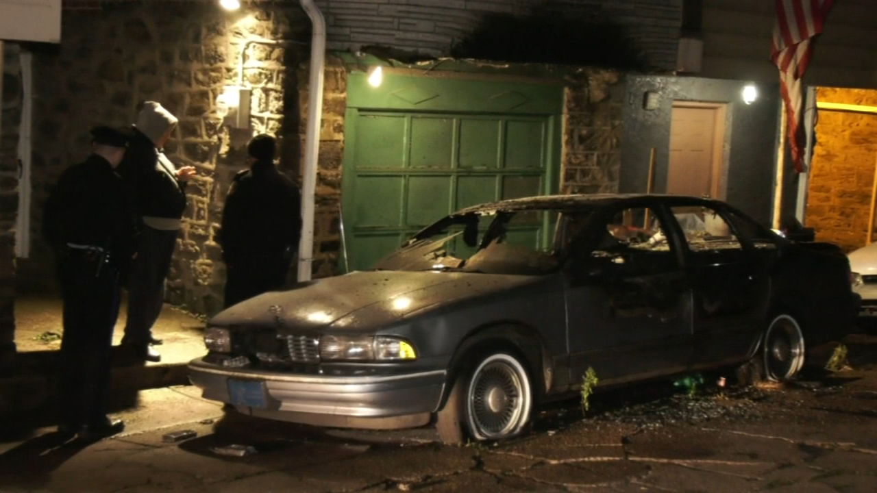 Police search for suspect who set car on fire in Juniata