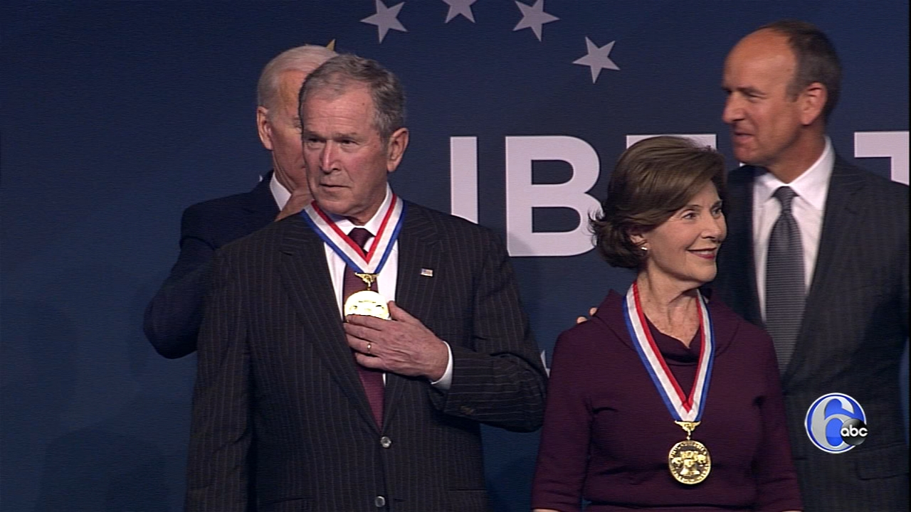 Watch Laura Bush and George W. Bush accept the 2018 Liberty Medal at the National Constitution Center, November 11, 2018.